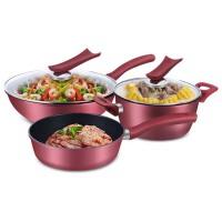 三件套厨具套  锅具  炒锅  汤锅煎锅炊具 锅组套装组合