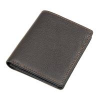 0604124724439男士钱包短款防盗男士钱包行用卡名片钱包潮流时尚多卡位手拿包户外旅游购物包包 巧克力色