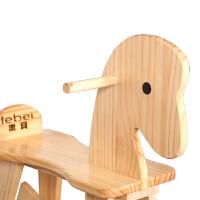 儿童木马摇摇马儿童木马实木宝宝生日礼物婴儿摇摇马摇椅玩具木质益智创意小木马A