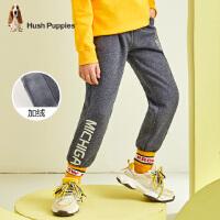 【预估券后价:87元】暇步士童装男童中大童冬季新款一体绒长裤运动长裤