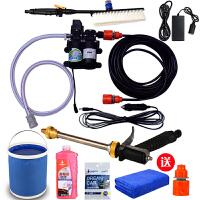 双泵便携式车载洗车器12v泵家用220v高压洗车机刷车水枪洗车神器SN5305 +刷子+转换器+水桶
