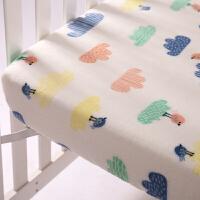 婴儿床单单件儿童床笠定做幼儿园秋冬款珊瑚绒ins套床垫套被单厚