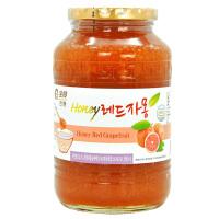 全贤 蜂蜜红西柚茶1kg 韩国原装进口冲饮品蜜炼茶果肉饮料