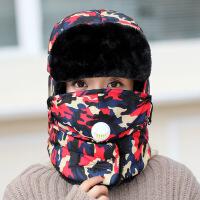 帽子男士冬天韩版户外保暖棉帽东北加厚护耳雷锋帽女冬季骑车防风 通用均码男女通用