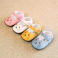 新款春秋真皮鞋子6-12个月3新生儿女宝女婴儿软底步前鞋防掉0-1岁