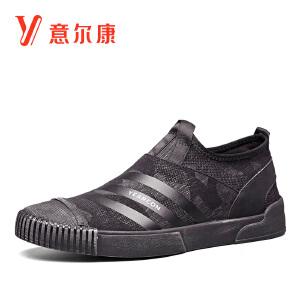 意尔康男鞋2018秋新款时尚潮流板鞋