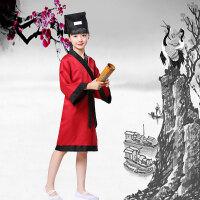 六一儿童书童演出服装男孔子古装国学服汉服女童表演三字经弟子规xx
