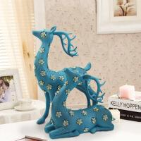 商务礼品 欧式创意蓝色大号*树脂摆件 家居装饰品 76081蓝色 76081L21*17*37