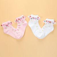 儿童花边袜 女童蕾丝宝宝袜子 女孩短袜春夏薄款纯棉袜公主袜