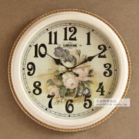 欧式挂钟现代简约挂表客厅家用石英钟表圆形卧室时钟创意墙钟 16英寸