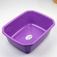 家用塑料脸盆长方形多用盆厨房洗菜盆耐摔洗衣盆子