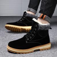 冬季马丁靴男高帮加绒大黄靴雪地短靴中帮棉鞋英伦保暖工装靴