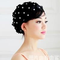 泳帽女 长发 可爱 宽松 立体花朵花瓣泳帽女