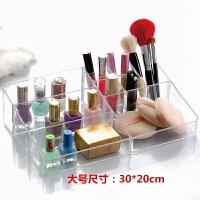 大号口红指甲油置物架透明简约首饰睫毛刷化妆包桌面化妆品收纳盒