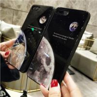 【包邮】苹果X手机壳7plus手机壳iPhone8手机壳8plus硅胶套苹果7钢化玻璃壳苹果6手机壳6plus硬壳星球