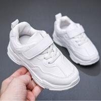 秋冬款�和�小白鞋�\�有�男女童鞋�W生鞋�n版中大童加�q加棉
