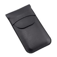 手机皮套苹果X 8 6plus手机套iphone xsmax直插套 手机壳包袋xr 加大版 4.7黑色 有盖款