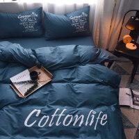 单人被子枕头床单一套ins全棉床上四件套男士纯棉被套床笠秋冬床单双人学生宿舍三3件套