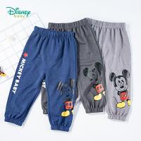 【99元3件】迪士尼Disney童装 男童裤子中小童夏季透气防蚊裤2020年新品舒适休闲裤薄款灯笼裤