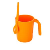 350ml马克杯带柄创意咖啡杯塑料杯大容量茶水杯a230 甜蜜冲调杯