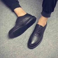 新款布洛克男士正装皮鞋男韩版英伦休闲鞋软面皮结婚潮流商务鞋子