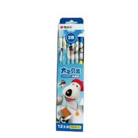 晨光 贝肯熊 2B圆型木杆铅笔 学生办公用品JWPQ0702 一盒12支