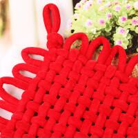 绒布中国结手工编织新年挂件家居装饰品节庆日装饰用品