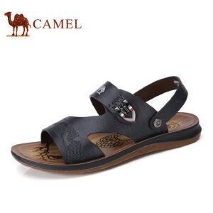 camel 骆驼男鞋夏季日常休闲清爽透气凉鞋露趾沙滩凉鞋男