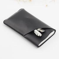保护套 移动电源收纳包 保护袋 双层皮套 立体双层款 黑色