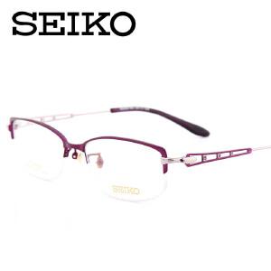 精工眼镜架 配眼镜女眼镜镜框 半框光学近视眼镜HC2013