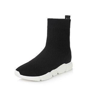 Teenmix/天美意2017冬纺织品字母织带街头风袜筒靴女靴18903DD7