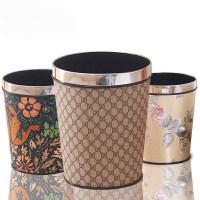【支持礼品卡】欧式无盖垃圾桶家用客厅卧室卫生间厨房创意塑料大号垃圾筒kg5