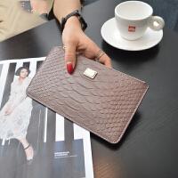 长款钱包女韩版拉链薄钱夹手机包 粉红色