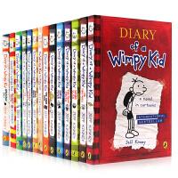 预售【全店600减200】英文原版【15册】Diary of a wimpy kid 小屁孩日记1-14本附DIY日记杰