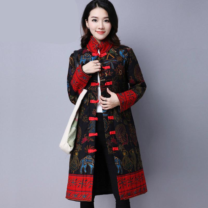 唐装女冬装棉衣复古盘扣棉袄秋冬汉服中国风中式女装上衣旗袍外套 发货周期:一般在付款后2-90天左右发货,具体发货时间请以与客服协商的时间为准