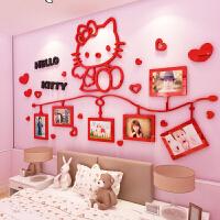 kitty猫3d立体墙贴儿童房装饰女孩卧室床头背景墙贴画照片墙贴纸 大