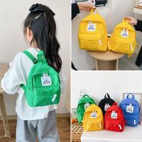 韩版简约纯色儿童双肩包校园男女童学生通用书包幼儿宝宝逛街背包
