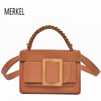 莫尔克 (MERKEL)新款时尚女包单肩包大方扣小方包韩版百搭女士手提包斜跨包