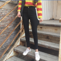 紧身裤纯色百搭显瘦弹力长裤春季新款韩版修身高腰打底裤女小脚裤