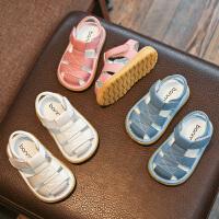 0-1-3岁男女童沙滩鞋子夏季小宝宝婴儿学步鞋包头凉鞋软底鞋