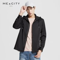 【1件2折到手价:99.8】MECITY男装春季可脱卸时尚连帽运动风长袖衬衫潮流