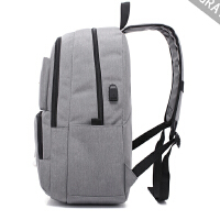 轻便韩版双肩包男大中学生书包时尚男士休闲商务电脑旅行背包USB