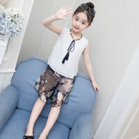 女童夏装新款套装韩版儿童装无袖两件套洋气时髦夏季潮