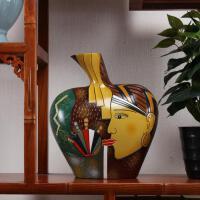 美式客厅玄关柜电视柜摆件隔断柜红酒柜装饰品摆件创意个性工艺品