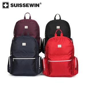 【SUISSEWIN旗舰店 支持礼品卡支付】学生书包休闲双肩包减压背包旅行包大容量SN17120