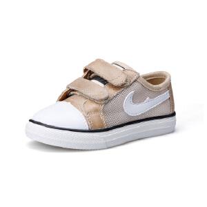 比比我儿童板鞋2017春秋季新款女童网布小白鞋韩版百搭学生魔术贴男童鞋