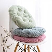 棉麻圆形椅子坐垫学生椅子垫靠垫布艺加厚凳子垫子榻榻米座垫椅垫