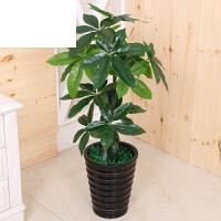 艾欧唯 大型客厅落地绿植树装饰塑料花假发财树仿真植物盆栽滴水观音盆景