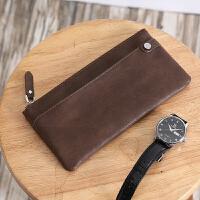 新款韩版青年钱包时尚皮质中长款钱夹大容量手机包多卡位零钱包