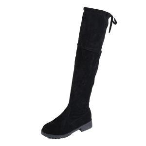 WARORWAR新品YM68-AAA冬季欧美低跟鞋女士靴子过膝靴长靴